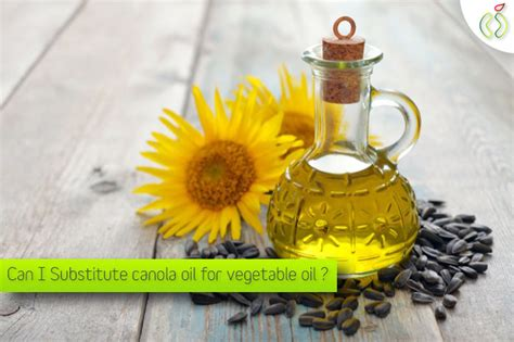 can i substitute canola oil for vegetable oil health excellence 2018