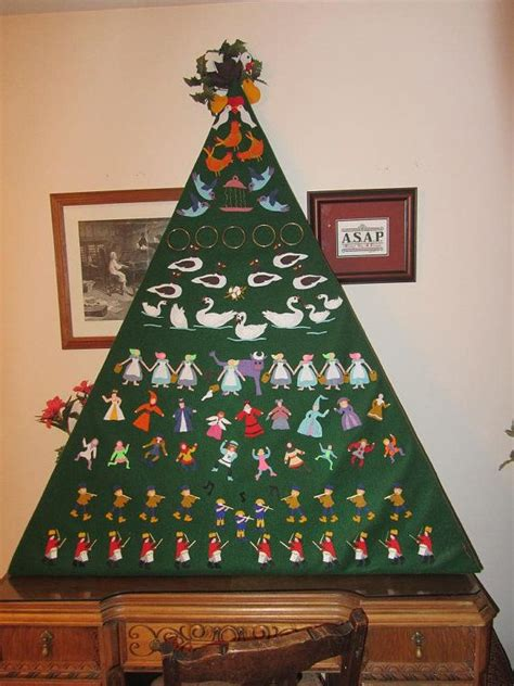 12 days of christmas felt christmas decoration pattern