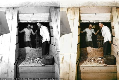 The And His Door by Images Show King Tutankhamun S In Colour For The