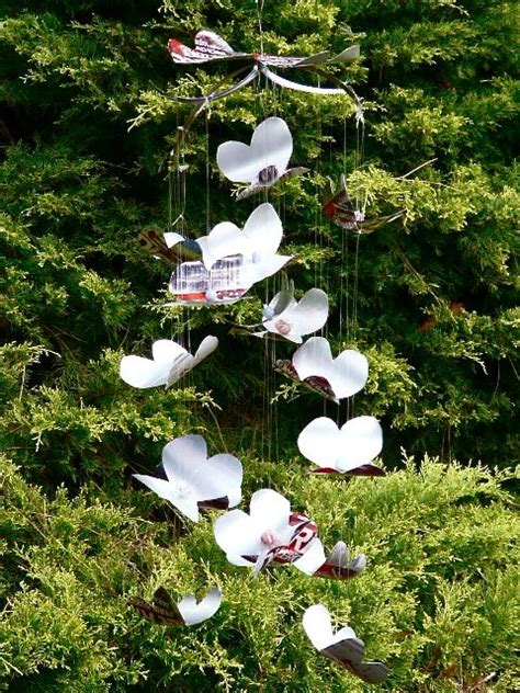 butterfly mobile made from aluminum pop cans gingerbread aluminum can crafts round up 20 easy tutorials using soda