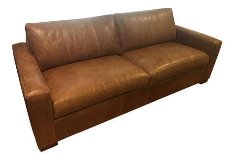 ethan allen hudson sofa hudson brown leather sofa by ethan allen chairish