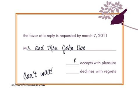 how to complete a wedding response card wedding invitation best of how to respond to a wedding invitati softcardforbusiness