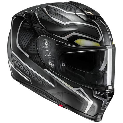 Schwarz Matt Motorrad by Hjc Rpha 70 Black Panther Marvel Motorrad Integralhelm