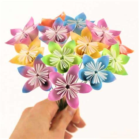 Origami Baket Bunga 33 brilliant and colorful crafts for to realize