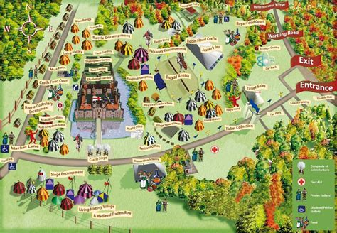 festival directions festival site map