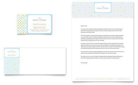 babysitting template infant care babysitting business card letterhead