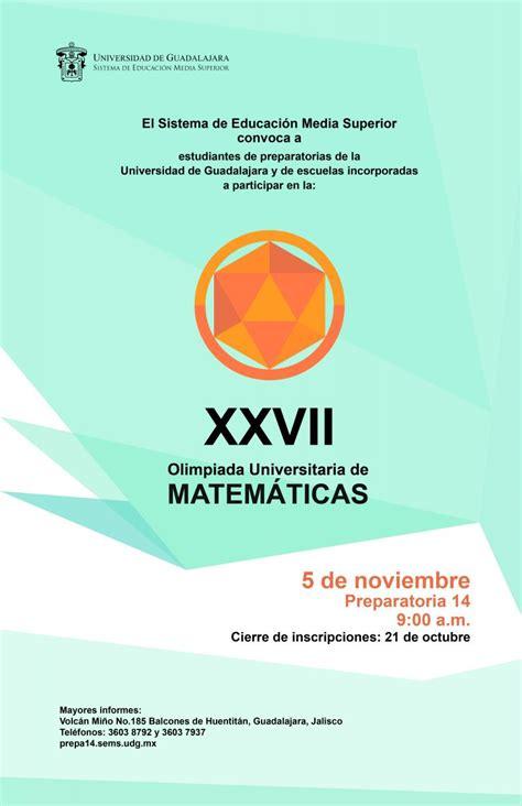 imagenes de matematicas universitarias preparatoria 14 sede de olimpiada universitaria de