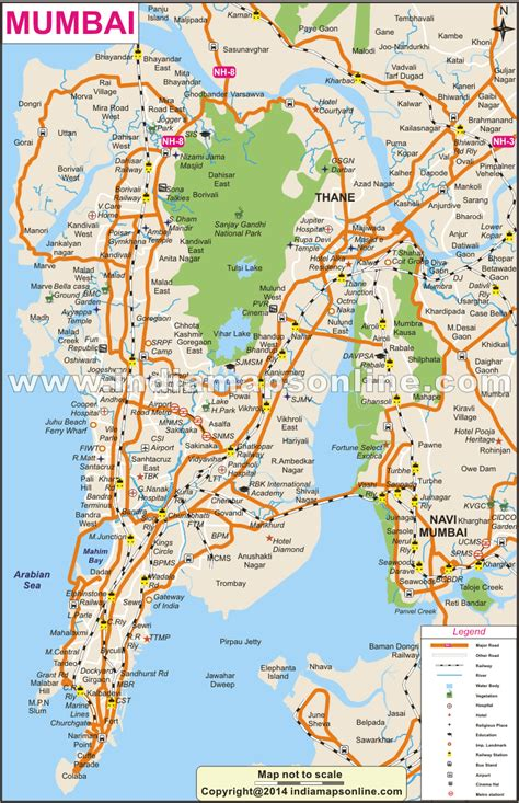 mumbai map mumbai city map city map of mumbai
