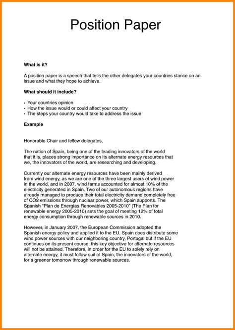 position essay sle how to write a position statement paper 28 images sle