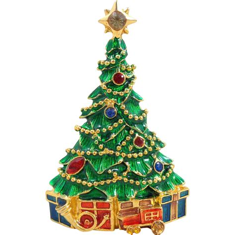christopher radko quot presents under the tree quot christmas pin