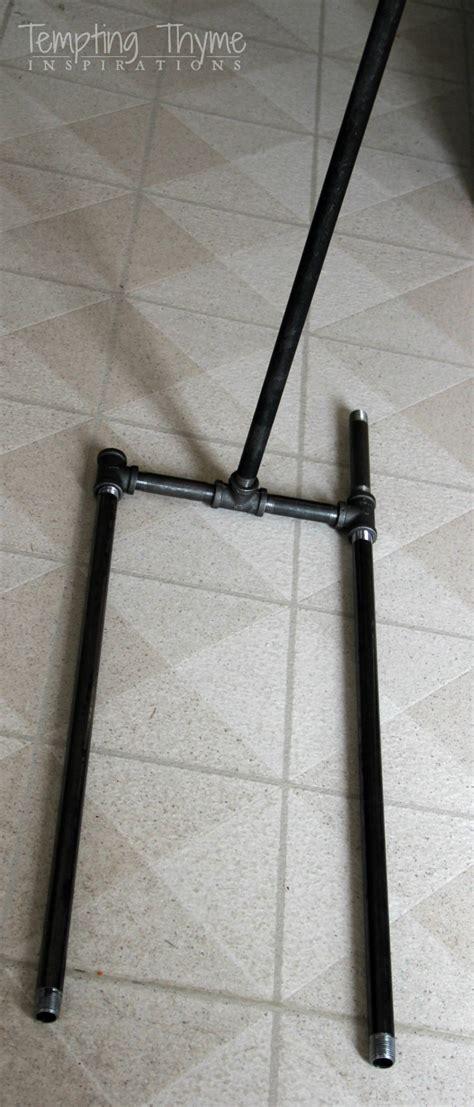 diy industrial table legs diy industrial pipe table tempting thyme