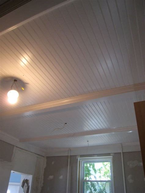 Beadboard Porch Ceiling Ideas by Basement Ceiling Idea Remove Drop Ceiling Paint Beams White And Put Up Bead Board Panels