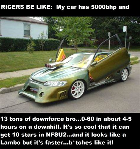 ricer muscle car the logic of the stupid people ricers