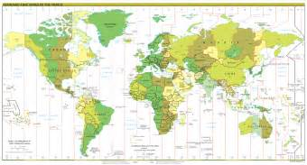 World Map Of Timezones by File Standard Time Zones Of The World Png Wikipedia