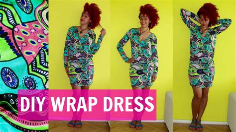 How To Make A Dress Out Of Wrapping Paper - diy wrap dress how to sew sleeves diy clothes