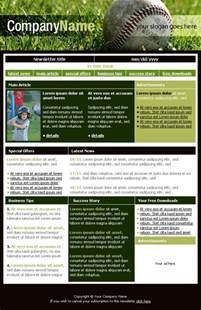 team newsletter template free newsletter templates downloads baseball club