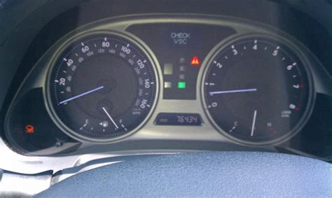 lexus is250 check vsc warning check engine check vsc after recall club lexus forums