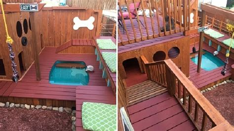 dog house with pool pa man builds epic 3 story dog house with electricity running water and pool story