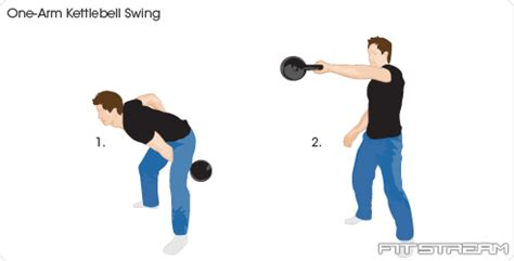 one arm swing exle kettlebell exercises and kettlebell training