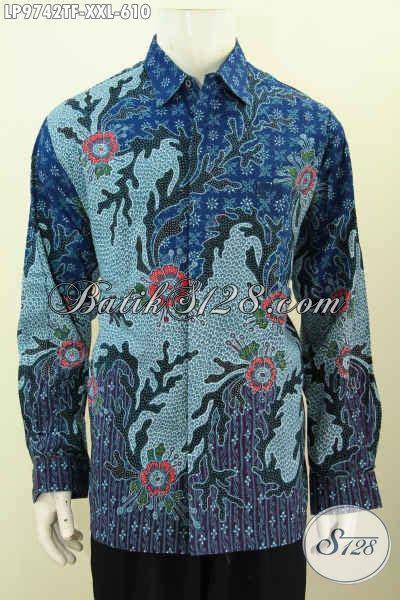 Kemeja Batik Lengan Panjang Bigsize hem batik big size premium kemeja lengan panjang furing bahan halus motif klasik tulis