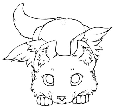 flying wolf coloring page winged wolf cub lineart 2 by little kitsune on deviantart