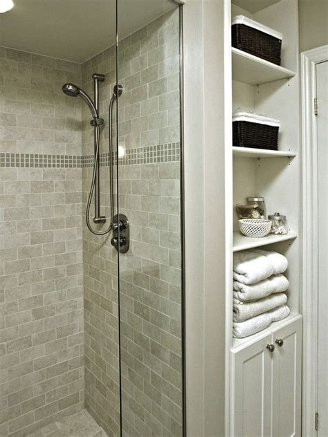 Small Bathroom Closet Ideas by Built In Linen Closet Idea Small Bathroom Design Pictures