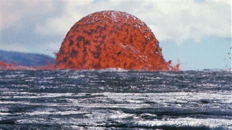 6 foot tall lava l fiery bubbles of molten lava fill the ocean in first ever