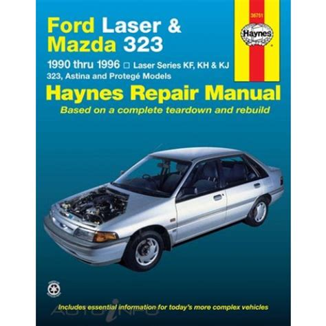 1991 mazda 323 and protege repair shop manual original haynes manual ford mazda laser 323 1990 1996 36751