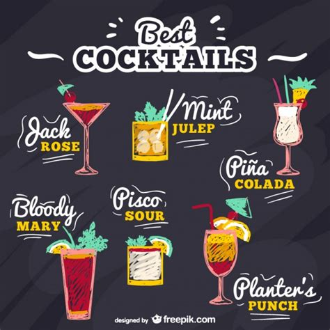 cocktail vector best cocktails vector free download