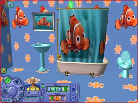 finding nemo bathroom set mod the sims testers wanted nemo bathroom set