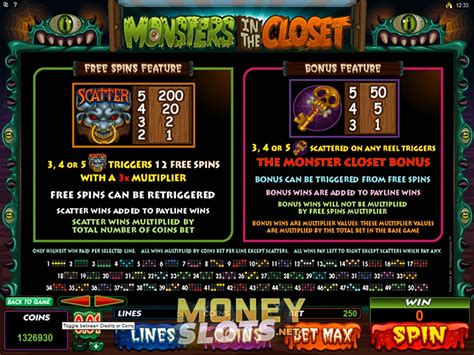 Closet Monsters by Monsters In The Closet Slot Review Microgaming