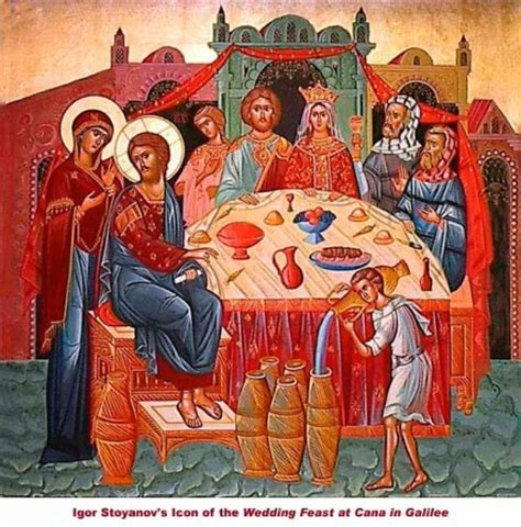 Wedding Feast At Cana Epiphany by Flesh And The Miracle Of Wine