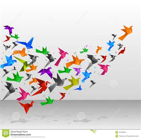 Origami Flying Birds - origami birds flight stock photo image 47003943