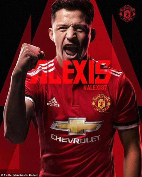 alexis sanchez man u man utd announce alexis sanchez signing from arsenal
