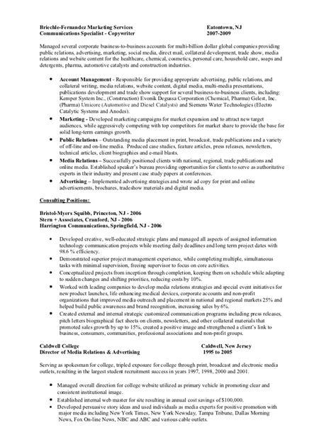 Media Relations Officer Sle Resume by Media Relations Specialist Resume 28 Images Pin By Resume Companion On Resume Sles Across