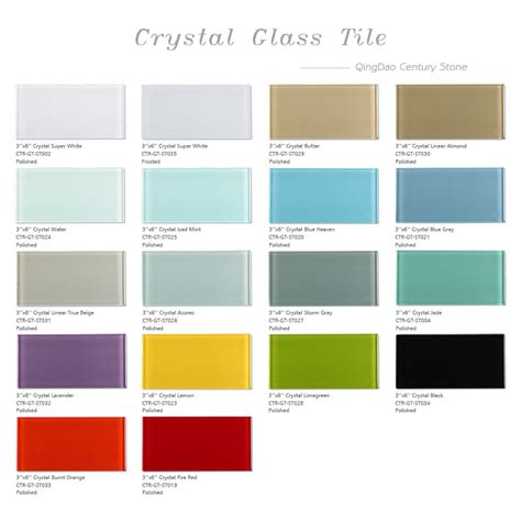 50 Square Meter by Beautiful Colors Kichen And Bath Wall Decorative 3x6 Glass