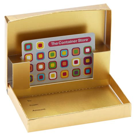 Gift Card Boxes - matte gold gift card box the container store