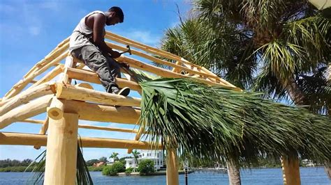 How To Build A Tiki Hut Roof by Building The Tiki Hut Part 2