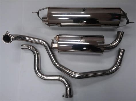 volvo 240 muffler volvo 240 polished stainless steel exhaust system 2