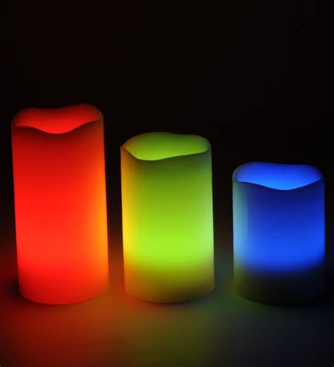 tu casa multi color changing wax led candle with remote