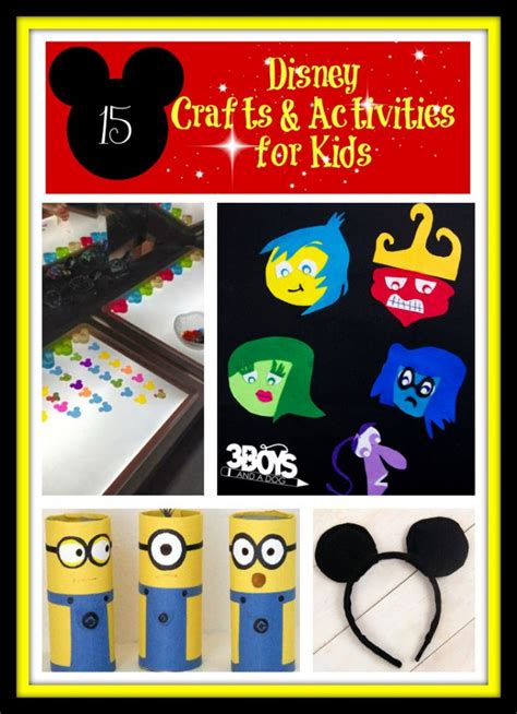 disney inspired crafts and activities for kids family 15 disney crafts and activities for kids 3 boys and a dog
