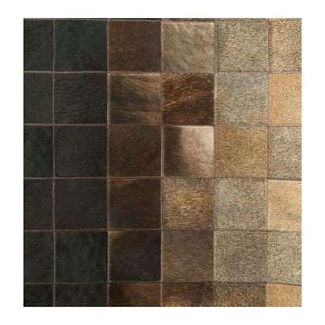 Patchwork Cowhide Rugs - patchwork cowhide brown redish carpet rug handmade by