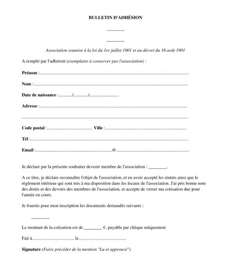 Exemple De Lettre De Demande D Adhésion Modele Attestation Adhesion Association Document
