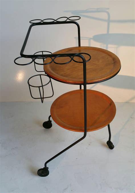 tony paul bar cart wire iron and wood mid century at