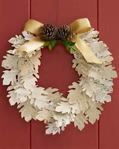 A Paper Wreath - paper leaf wreath martha stewart
