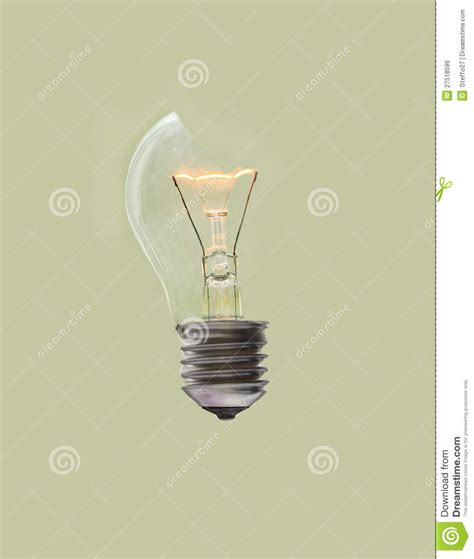 Busted Light by Broken Light Bulb Royalty Free Stock Image Image 27518596