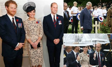 members of the british royal family the british royal family remembers wwi battle in france
