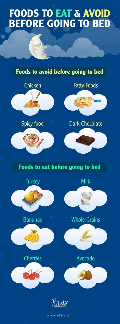 food before bed for a good night s sleep foods to eat and avoid before
