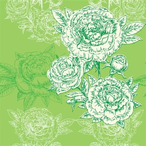 peony pattern font seamless peonies pattern hand drawn vector 04 vector