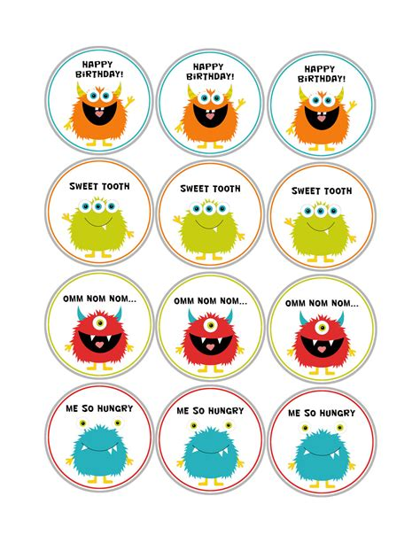 free printable monster birthday decorations monster printables package girl